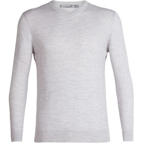 Icebreaker Shearer V-hals Sweater Heren, steel heather